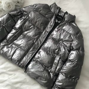 Silver Faux Down Coat